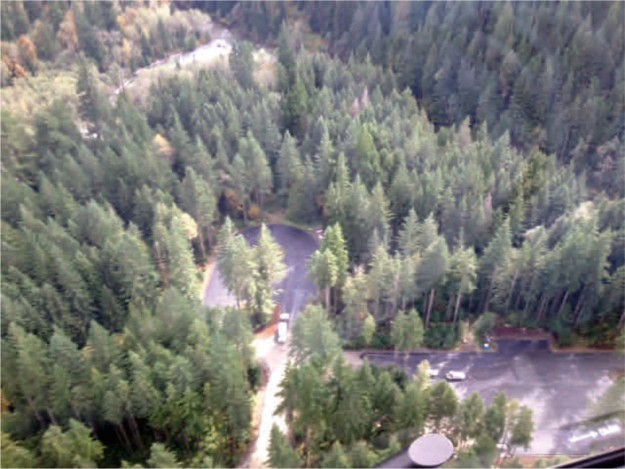 Aerial shot of Middle Fork Trailhead (from construction newsletter, courtesy of WFLH)