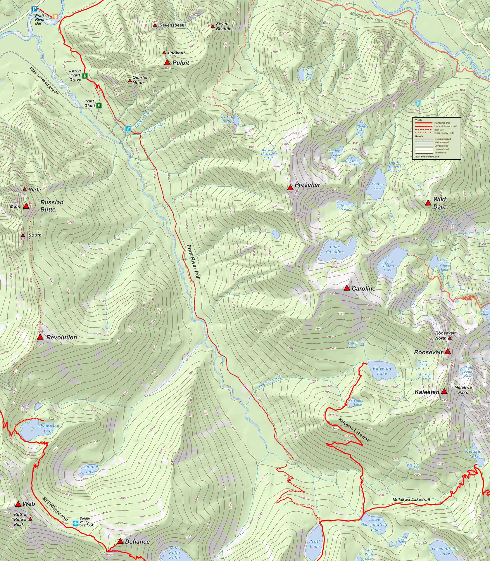 Pratt area map