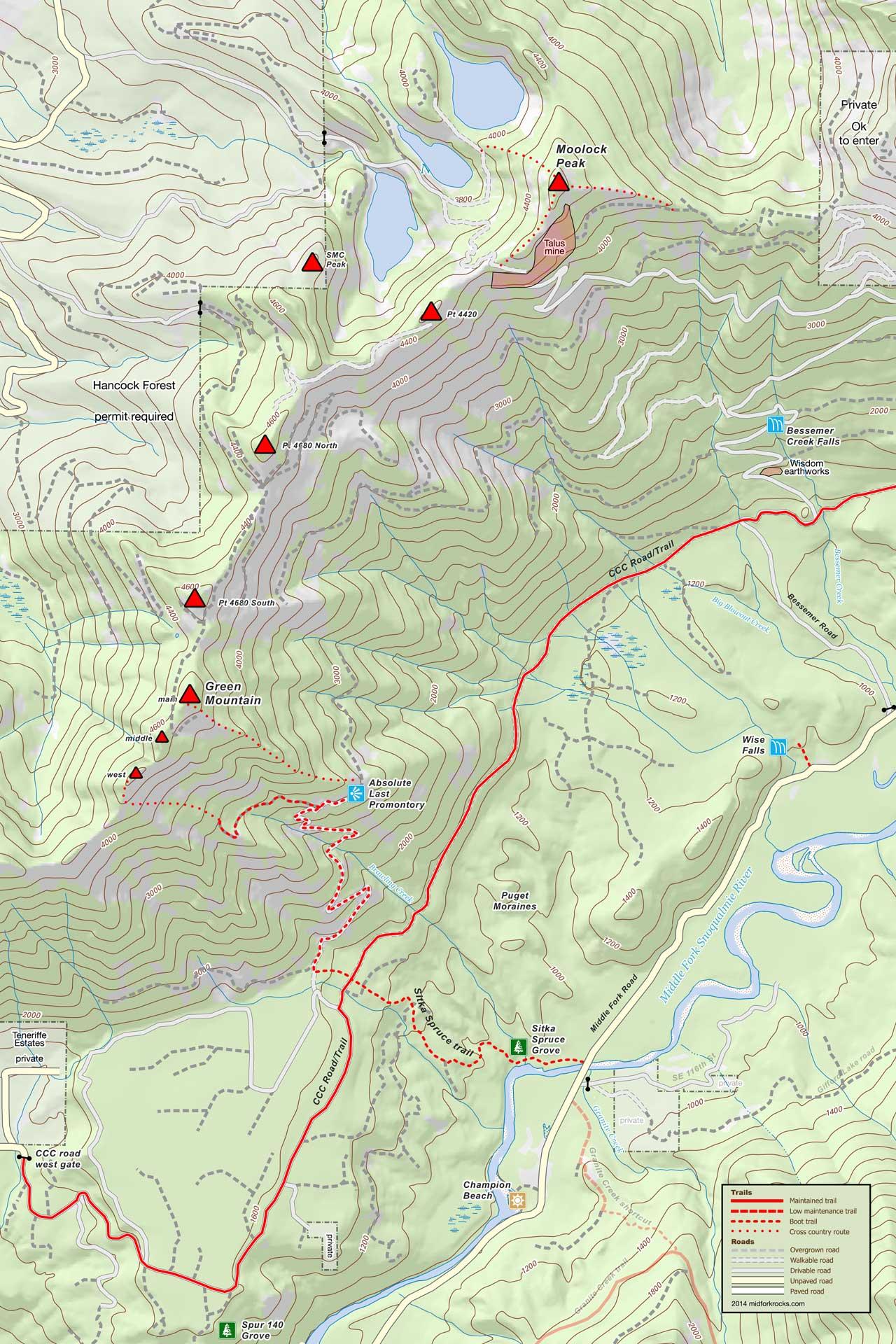 Green Mountain area