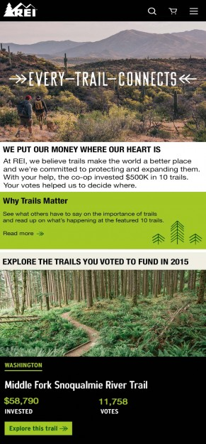Voters earned $58,790 for the Middle Fork Trail