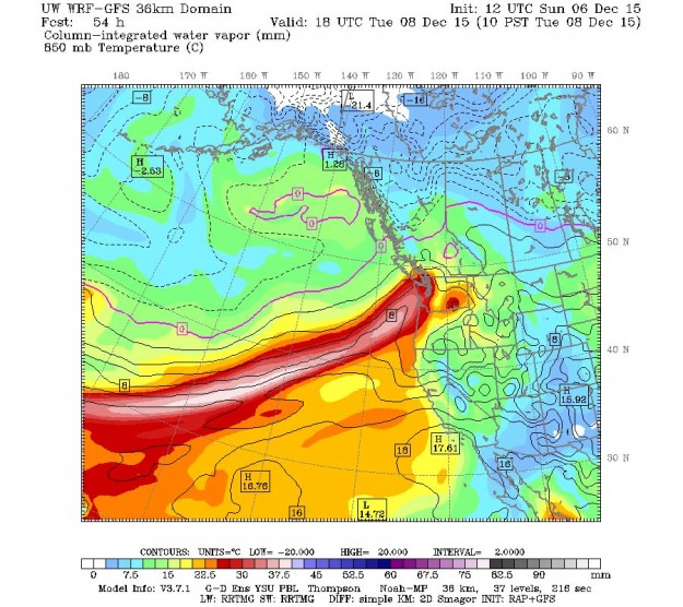 Atmospheric River from Cliff Mass weather blog